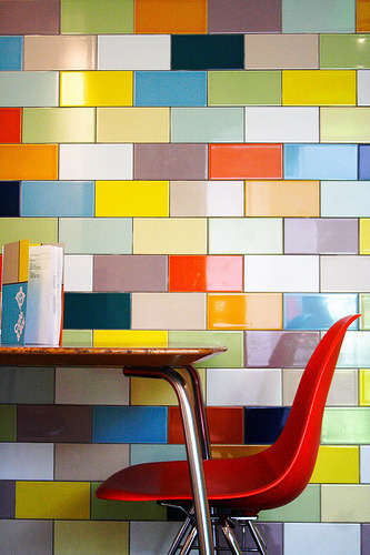 Weekend Colour Inspiration A Wall Of Coloured Tiles