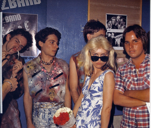 Debbie Harry with The Weirdos and Jeffrey Lee Pierce (later of The Gun Club), 1977