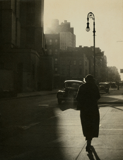 Walfred Moisio, Woman Walking on Sidewalk, 1930s
