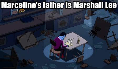 adventure time finn grabbing marcelines as