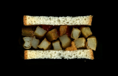 *Scanwiches Book Sneak Peak! Chip Butty: Hot Chips, Ketchup, on White Bread.