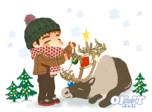okitok:</p> <p>in Junsuya mini calender / decorate a reindeer antler~(WINTER)<br />