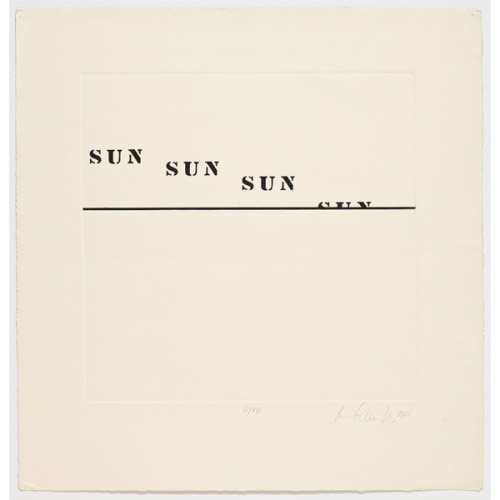 """By Luis Camnitzer (reminds me of Caribou's """"Sun"""")"""