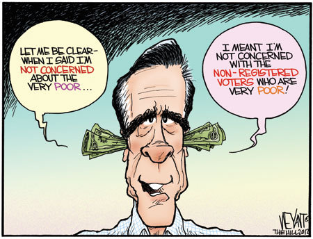 Another Funny Ampmitt Romney On The Pooramp Type Cartoon