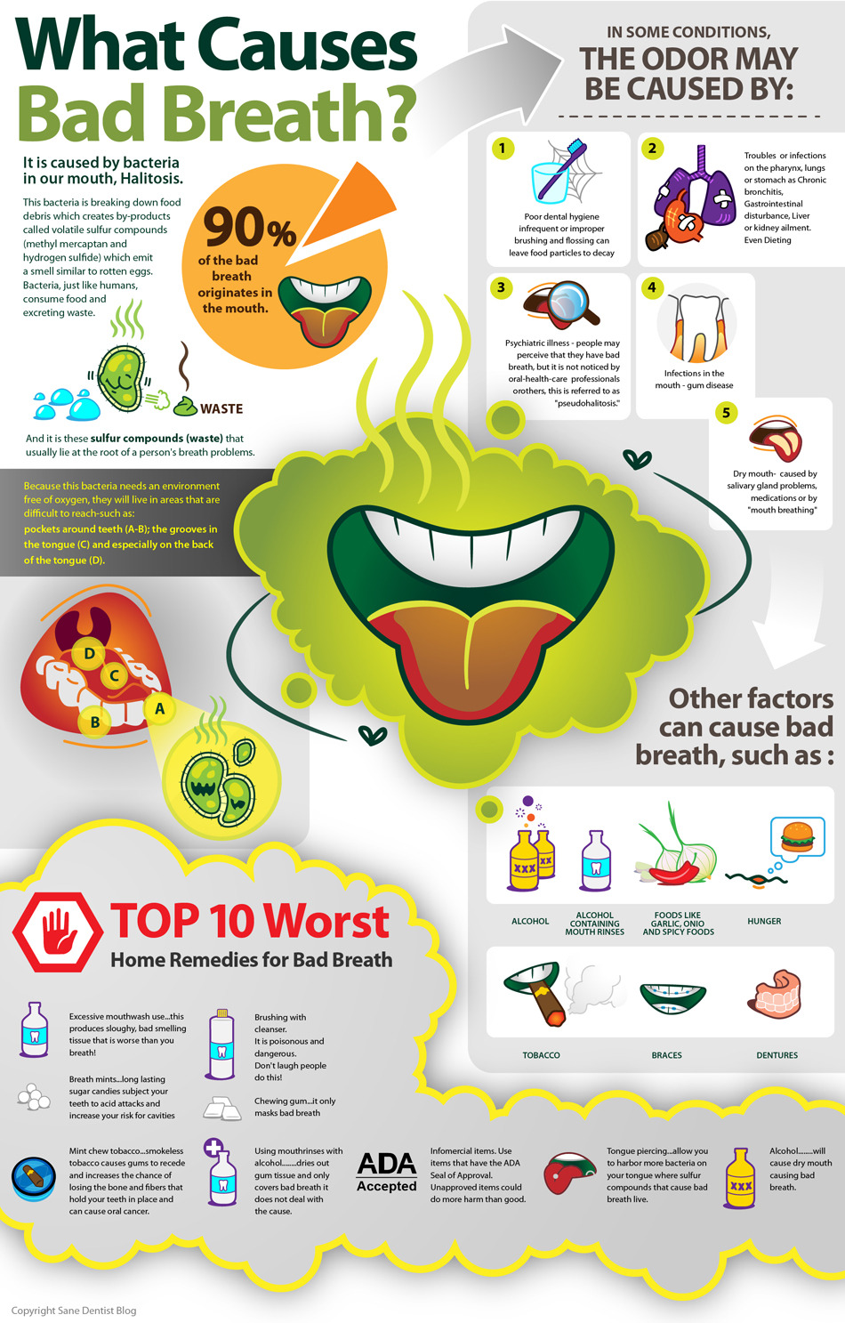 What causes bad breath? [Infographic] | ecogreenlove