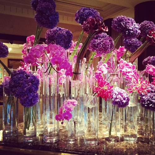 Flower display at the Ritz! (Taken with instagram)
