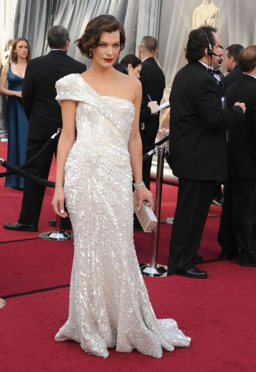 Milla Jovovich Academy Awards Oscar Night 2012