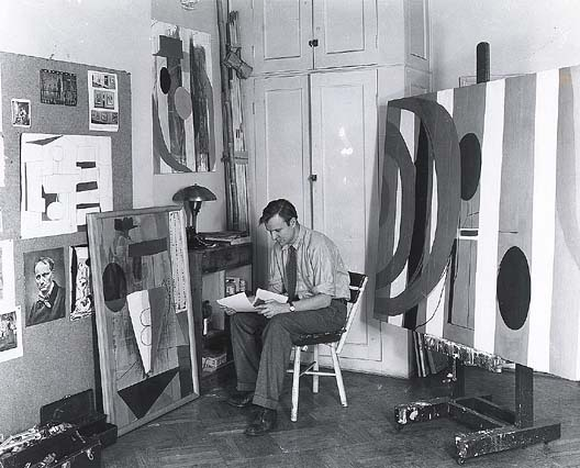 Robert Motherwell in his studio