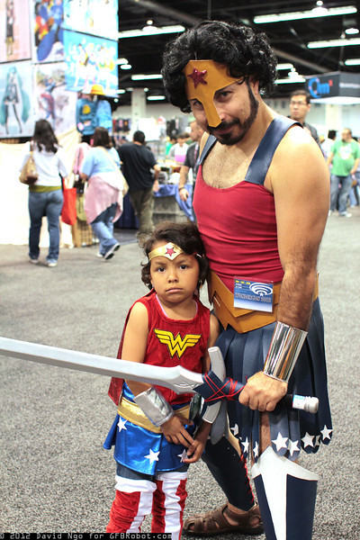Father and Daughter Wonder Woman