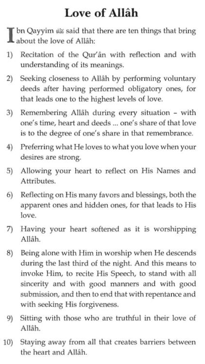 May we have the courage and determination to pursue His love. May we be showered with it. SubhanAllah.