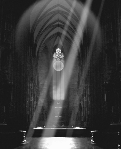 WHAT DO YOU SEE?<br /> DO YOU SEE A CHAPEL?<br /> DO YOU SEE A DARK ROOM?<br /> DO YOU SEE RAYS OF LIGHT?<br /> OR DO YOU SEE EVIL WAITING<br /> TO POUNCE ON ITS NEXT VICTIM?<br /> I BET YOU CAN GUESS WHAT I SEE?<br /> COME ON VICTIMS, LINE UP.