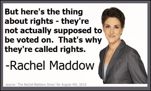 Rachel Maddow on rights