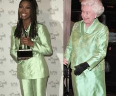 The Queen copies Brandy