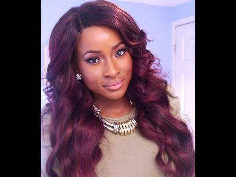 Burgundy Hair Color On Dark Skin