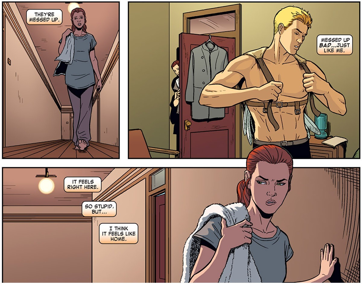 Comic panel: Warron and Jean.