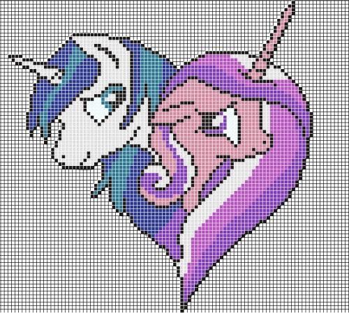 Rainbow Dash Pixel Art Grid