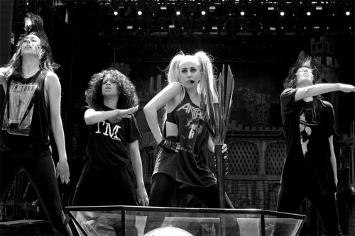 Gaga rehearsing for the show #1