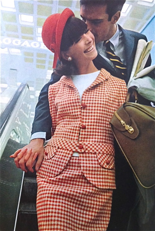 theswingingsixties:  Fashion for Saks Fifth Avenue at John F. Kennedy International Airport, 1960s.