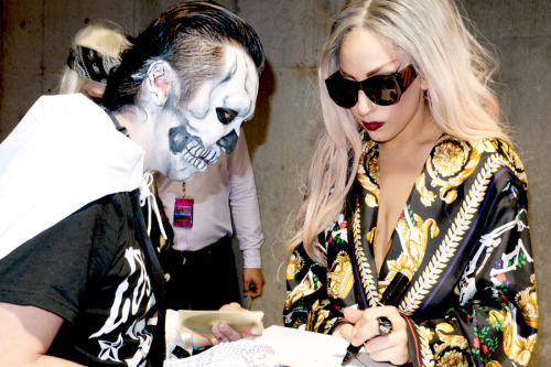 Gaga with a little monster after the show #1