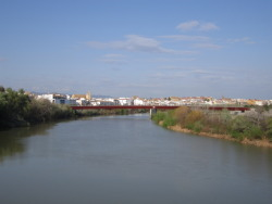 Guadalquivir flowing swiftly