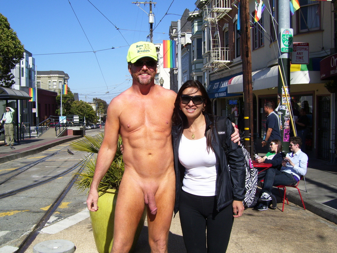 Public big cock Dick slips