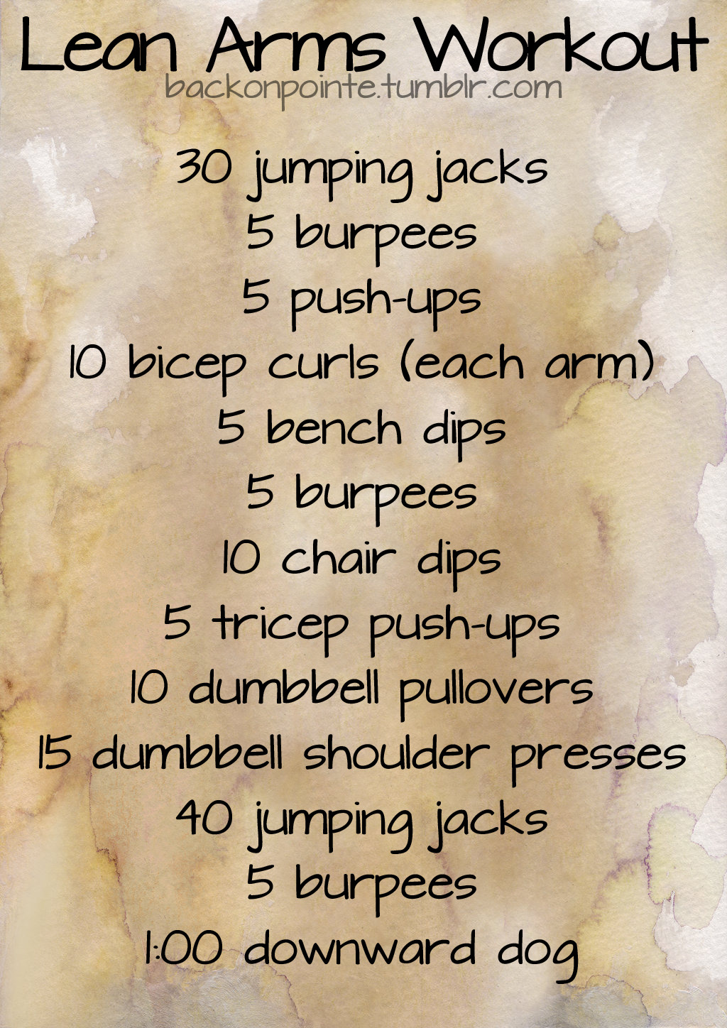 Here's another workout for lean arms that requires more use of weights than my first workout.
