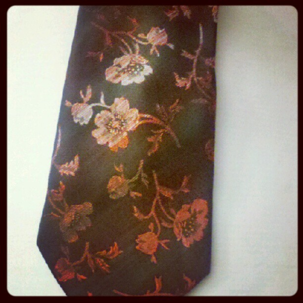 Before pic of the tie