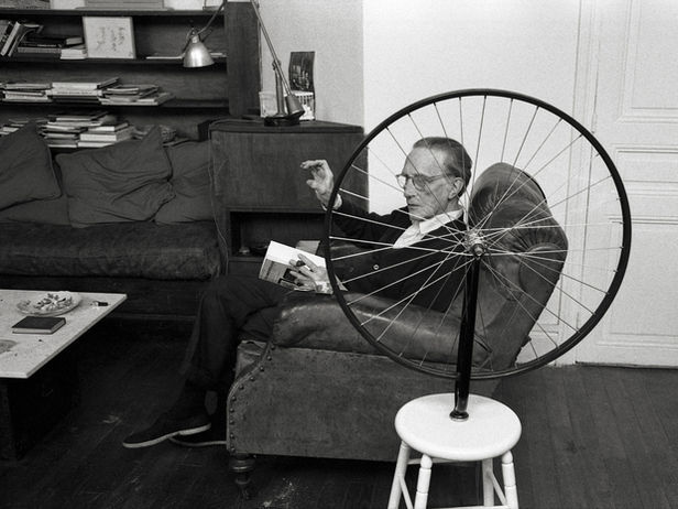 Marcel Duchamp, Paris 1960.   Photo by Vera Mercer