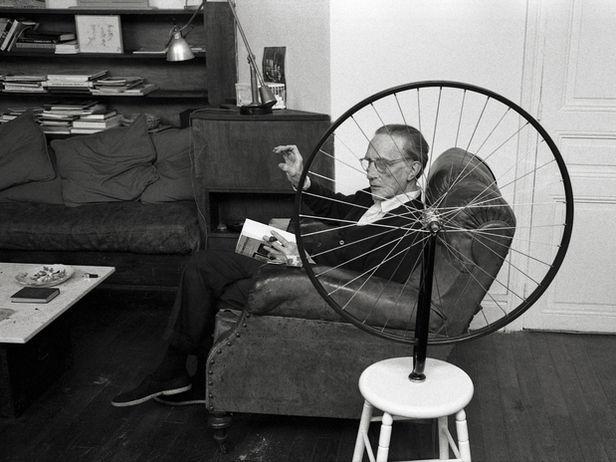 Marcel Duchamp, Paris 1960.   Photo by Vera Mercer