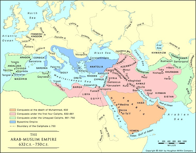 Byzantium and the Caliphate.