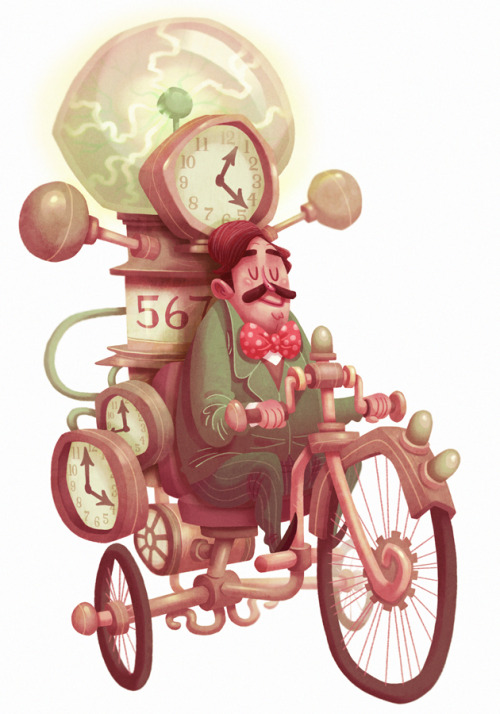 tmackart:  HISTORICAL FIGURE #13 H.G. Wells on his time machine…