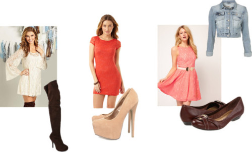 Style Lace Dresses by thehautebunny featuring nude shoesOasis vintage style dress, $108Slip dress, $20Lace bodycon dress, $20Cropped denim jacket, $76AX Paris nude shoes, £33Boots, $20Naturalizer, $47