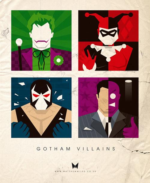 fuckyeahmovieposters:  Gotham Villains by Matthew Miles