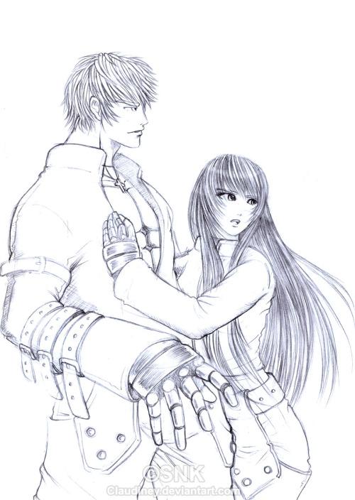 K' and me~ pretty draw, i like it wuu.
