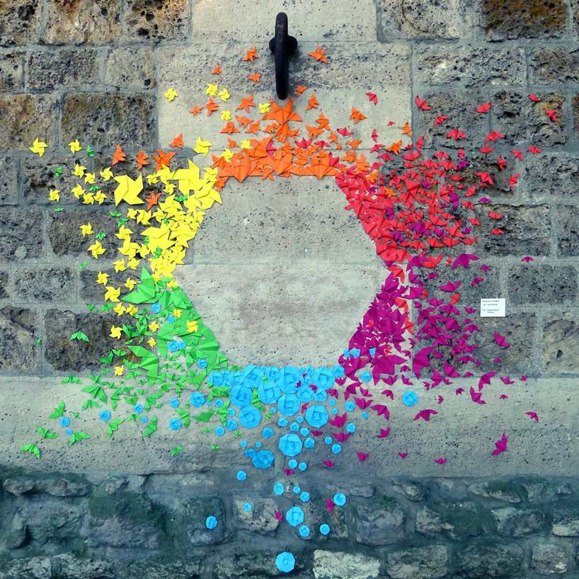 julienfoulatier:Urban Origami Installation by Mademoiselle Maurice.