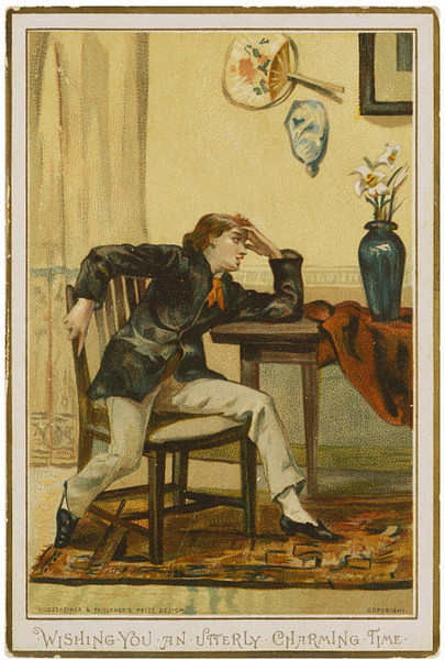 1882 Greetings Card, mocking the