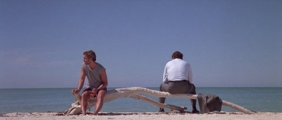 William Petersen and Dennis Farina in the opening shot of Manhunter