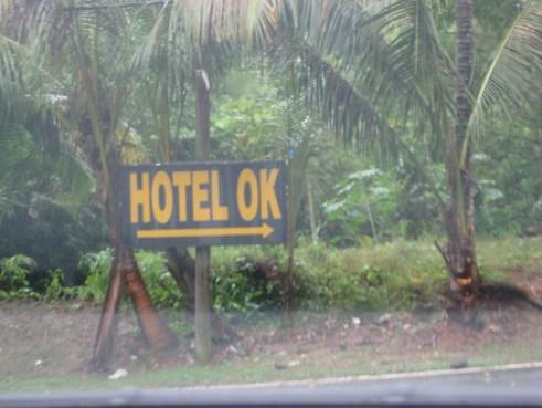 Hotel OK Puerto Rico sign