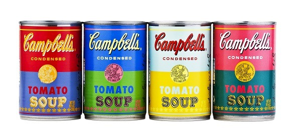 wetheurban:  CAMPBELL'S LTD EDITION ANDY WARHOL SOUP CANS In honor of the 50th anniversary of Andy Warhol's famous soup can pop art, Campbell's is release a limited edition set of cans with pop art Warhol-inspired labels. There will be four designs in total, each of which will don Warhol's pop art style in bright psychedelic colors. Look for these to go on sale on September 2 exclusively available at most Target locations nationwide for $0.75 per 10.75-ounce can. I'll take one of each, please!