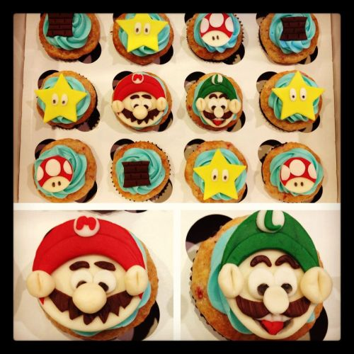 Custom Super Mario cupcakes from Pick Your Poison in Las Vegas! This is not your average bakery! If you're looking for a plain vanilla cupcake, we're sure there is a local franchise that can fulfill your boring needs. If you are looking to expand your taste buds, we're the baketenders you've been looking for! We specialize in unique flavor combination's and liquor infusions. Our cupcakes are adult AND kid friendly.