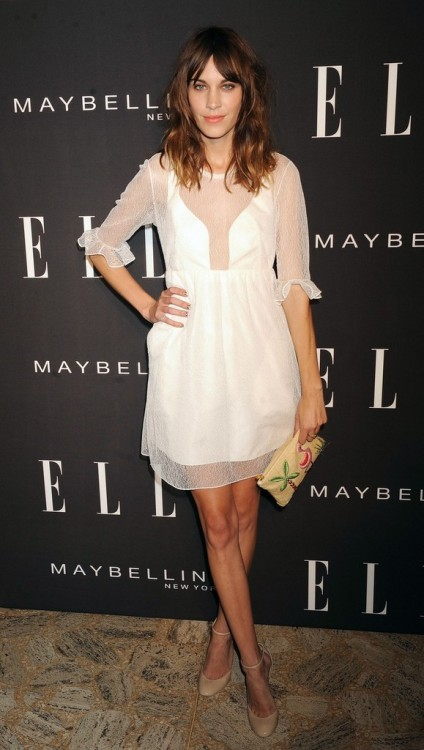 alexastyle:  Alexa Chung attending the Elle Fashion   Next - Spring 2013 Mercedes-Benz Fashion Week at the David Koch Theatre at Lincoln Center in New York.