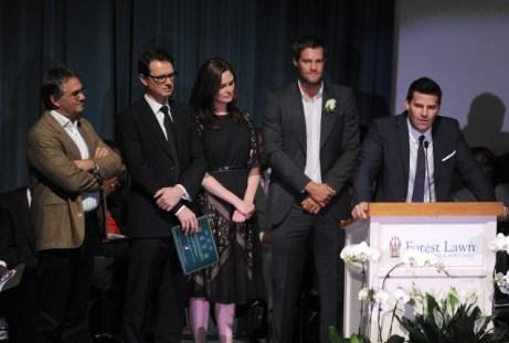Boreanaz & Deschanel at MCD memorial