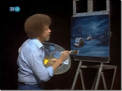 The master Bob Ross at work