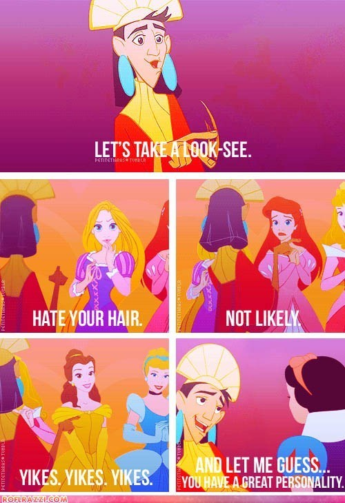 Kuzco meets other disney princesses