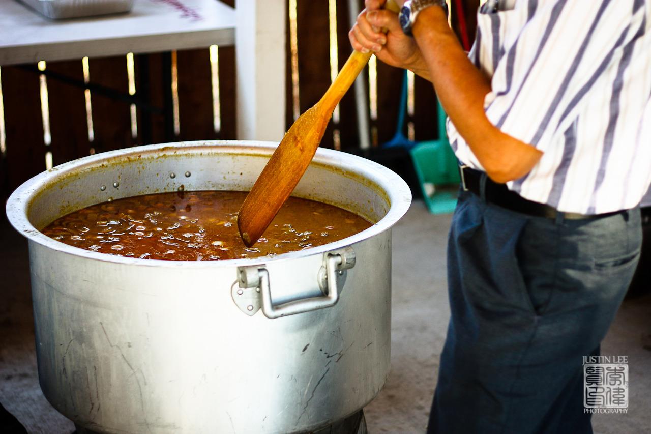 Stirring the cauldron of mohinga
