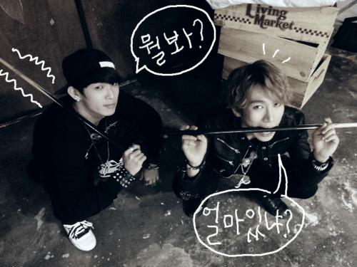 120926 HyunSik & EunKwang - Inkigayo Magazine Photoshoot