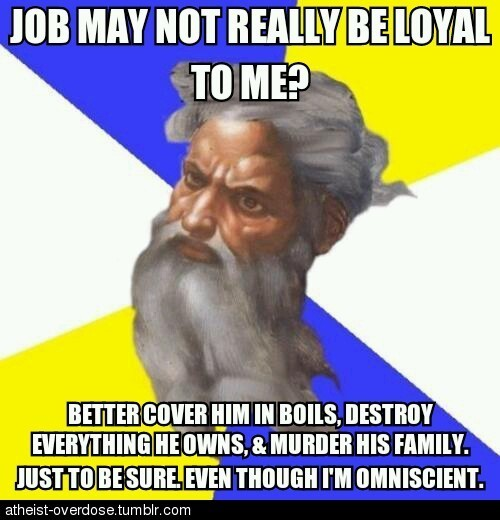 To be fair, we all get a bit insecure sometimes.. follow for the best atheist posts on tumblr