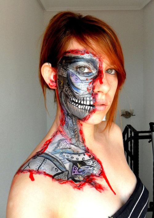 The Robot Inside Me: Cyborg Facepainting | Geekologie