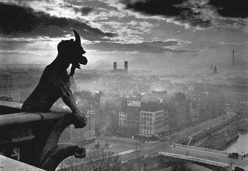 How do you know but every Bird that cuts the airy way, Is an immense world of delight, clos'd by your senses five?—William BlakePhotograph: Yvon [Pierre Yves Petit, 1886-1969]: Gargoyle atop Notre Dame