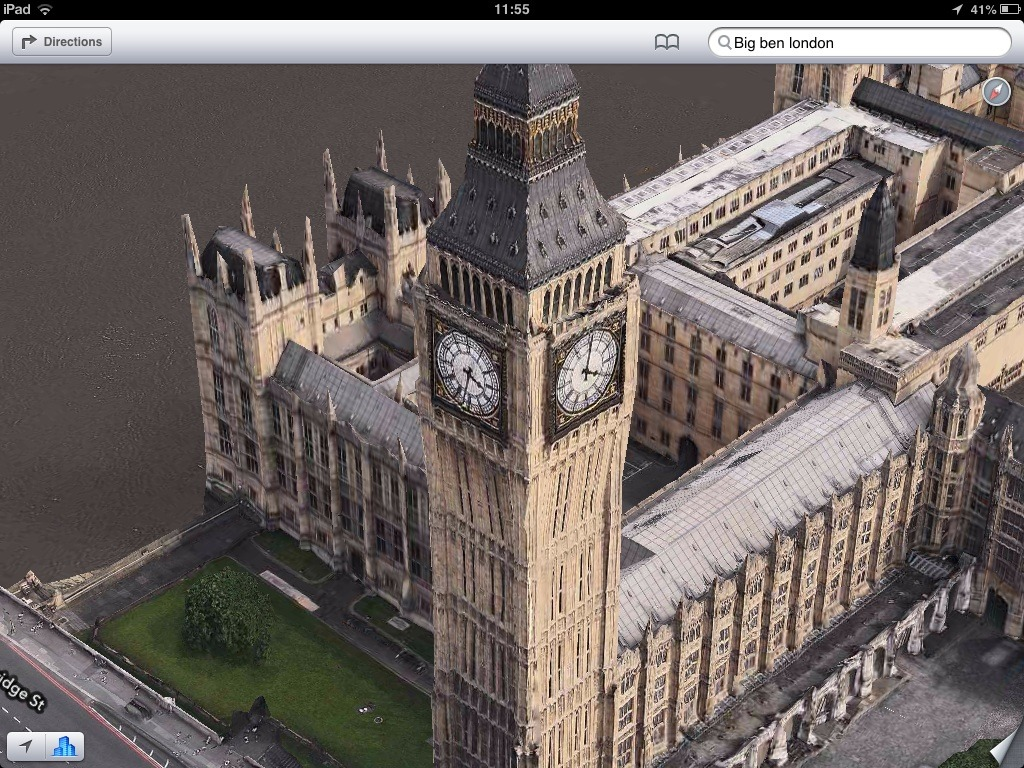 Big Ben London, amazing time travel All four clocks show a different time
